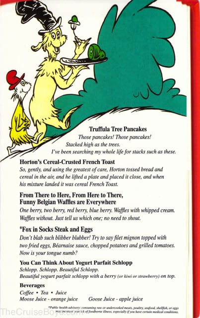 carnival cat in the hat breakfast menu