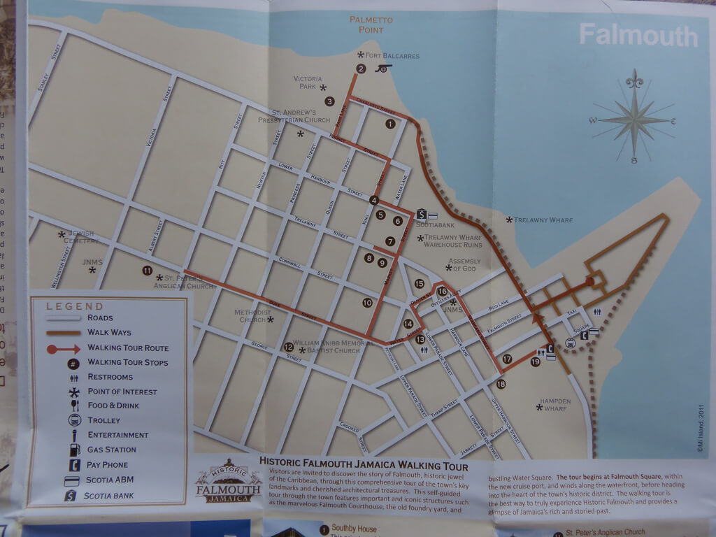 Falmouth Jamaica self guided walking tour