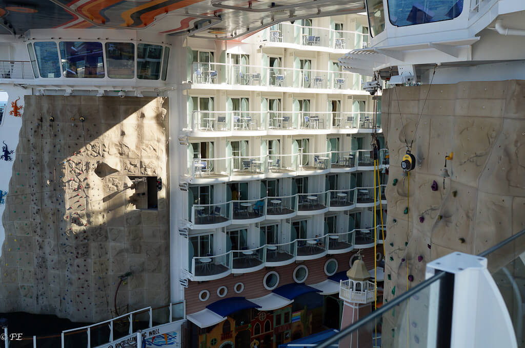 Allure of the Seas rock wall