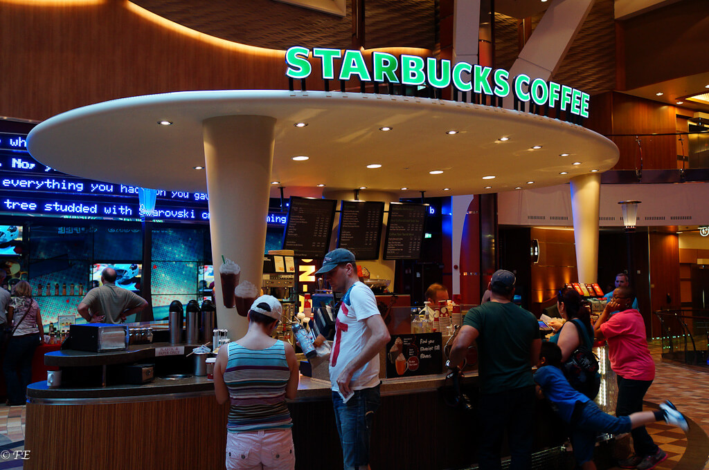 Allure of the Seas starbucks