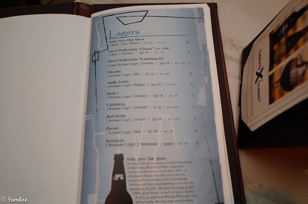 Celebrity Drinks Price List - Celebrity Cruises - Cruise ...