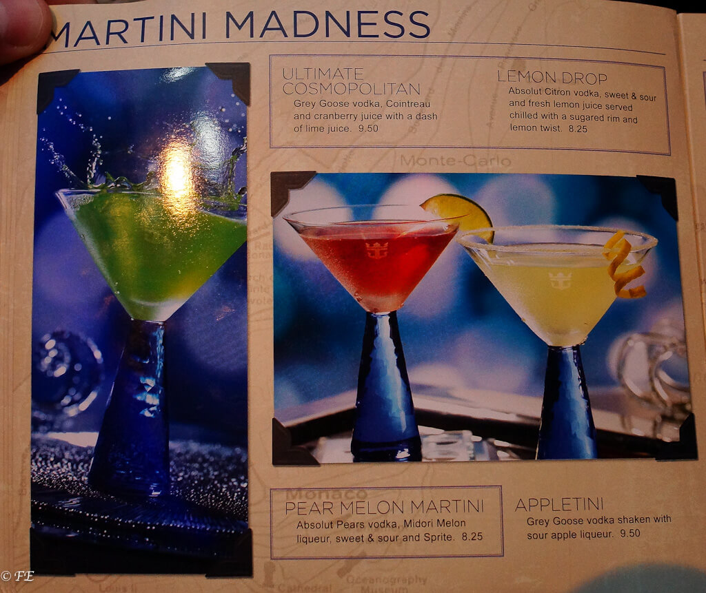 royal caribbean drinks