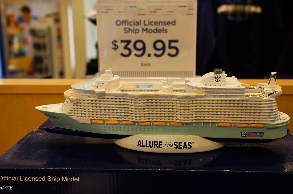 Allure of the Seas model ship price