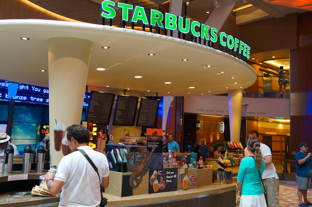 Starbucks aboard largest cruise ship