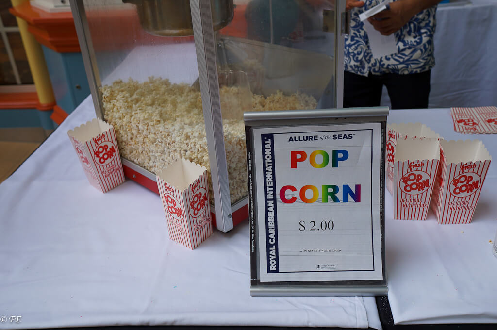 royal caribbean pop corn