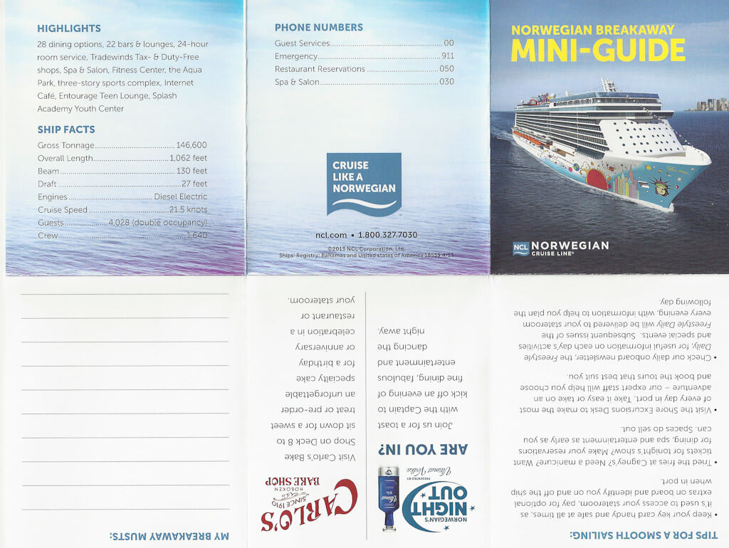 norwegian getaway spa prices