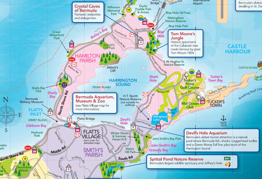 The Best Things To Do In Bermuda By Gambee Cruise With Gambee - Bermuda islands map