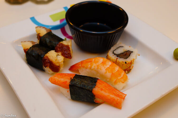 Celebrity Silhouette sushi