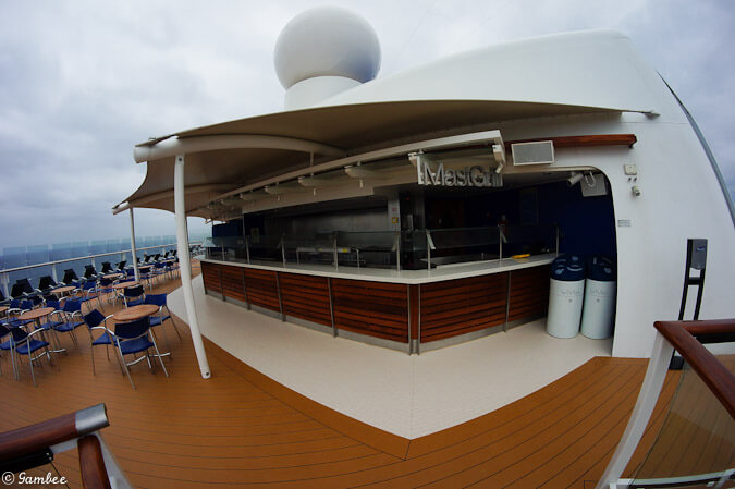 Celebrity Silhouette Mast Grill