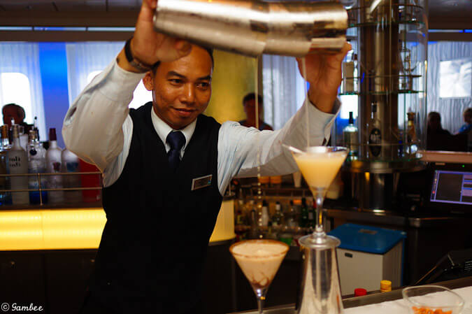 Celebrity Silhouette martini bar