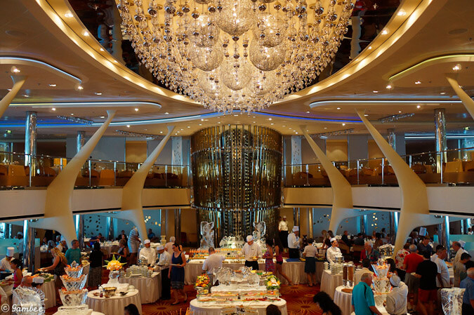Celebrity Silhouette last Sea Day Brunch main dinning room