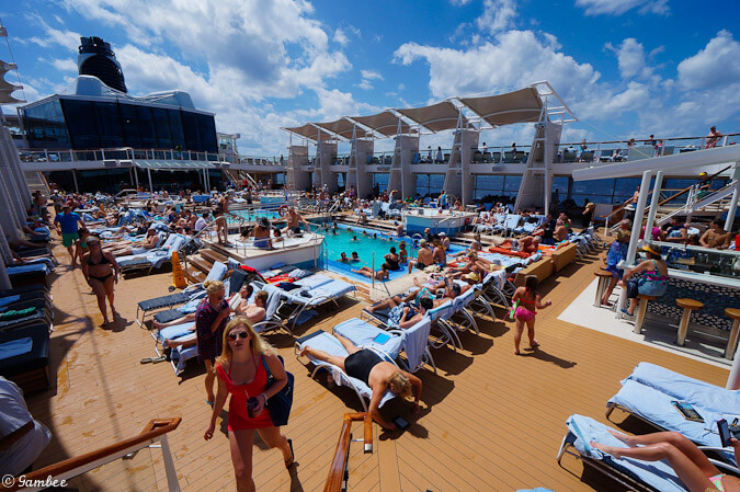 Celebrity Silhouette Lido deck - pools