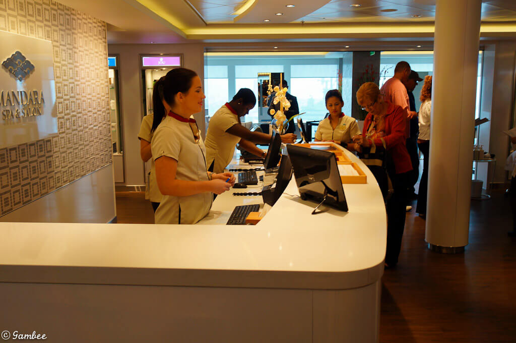 Norwegian Breakaway spa reception