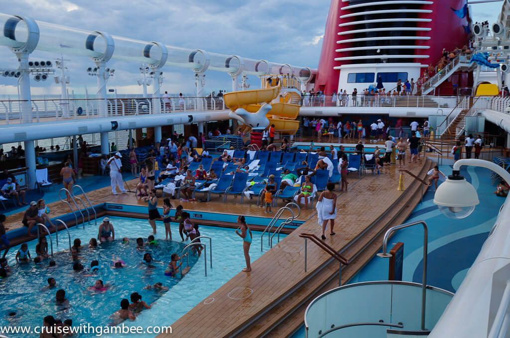 Disney Dream cruise ship pool area