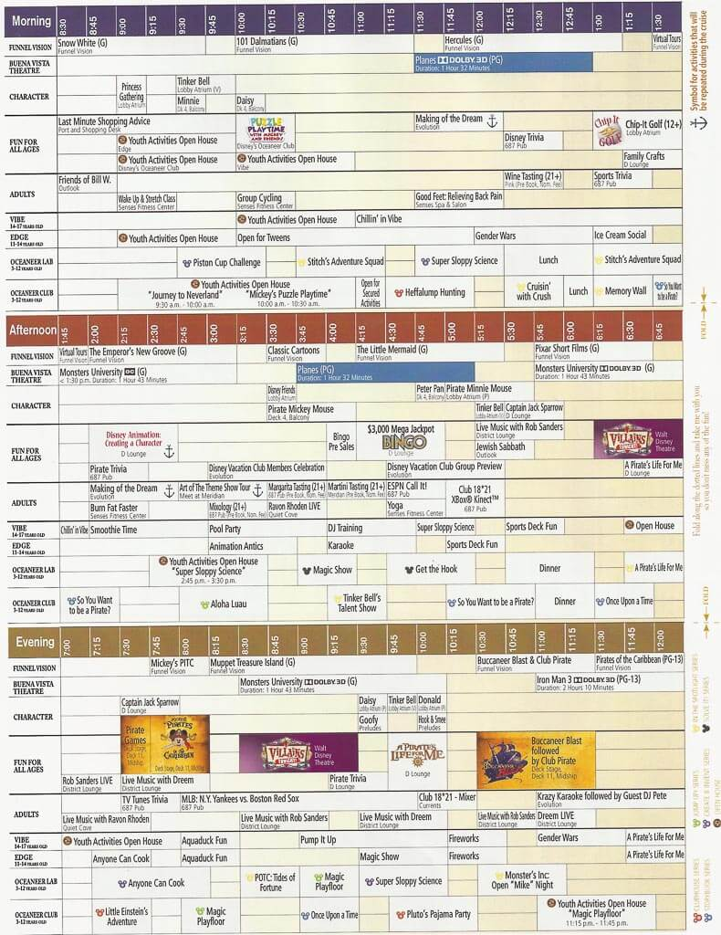 Disney cruise schedule