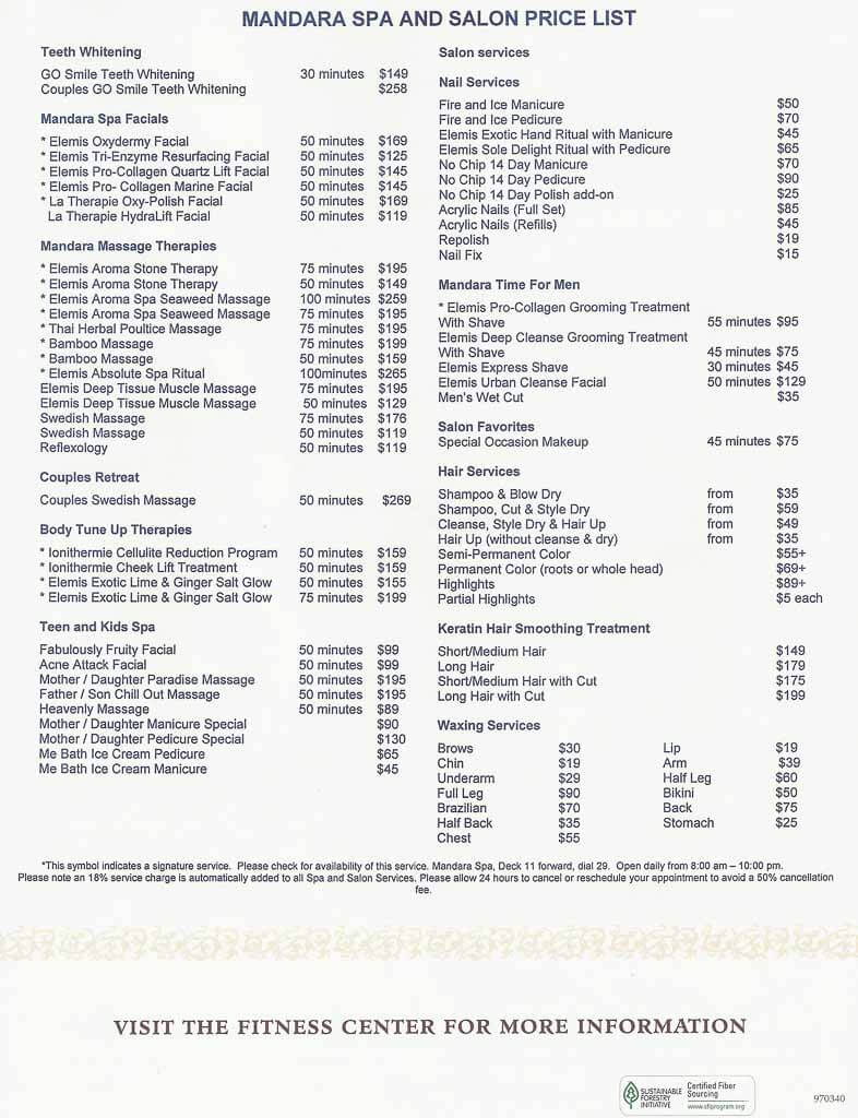 Norwegian Spa Prices