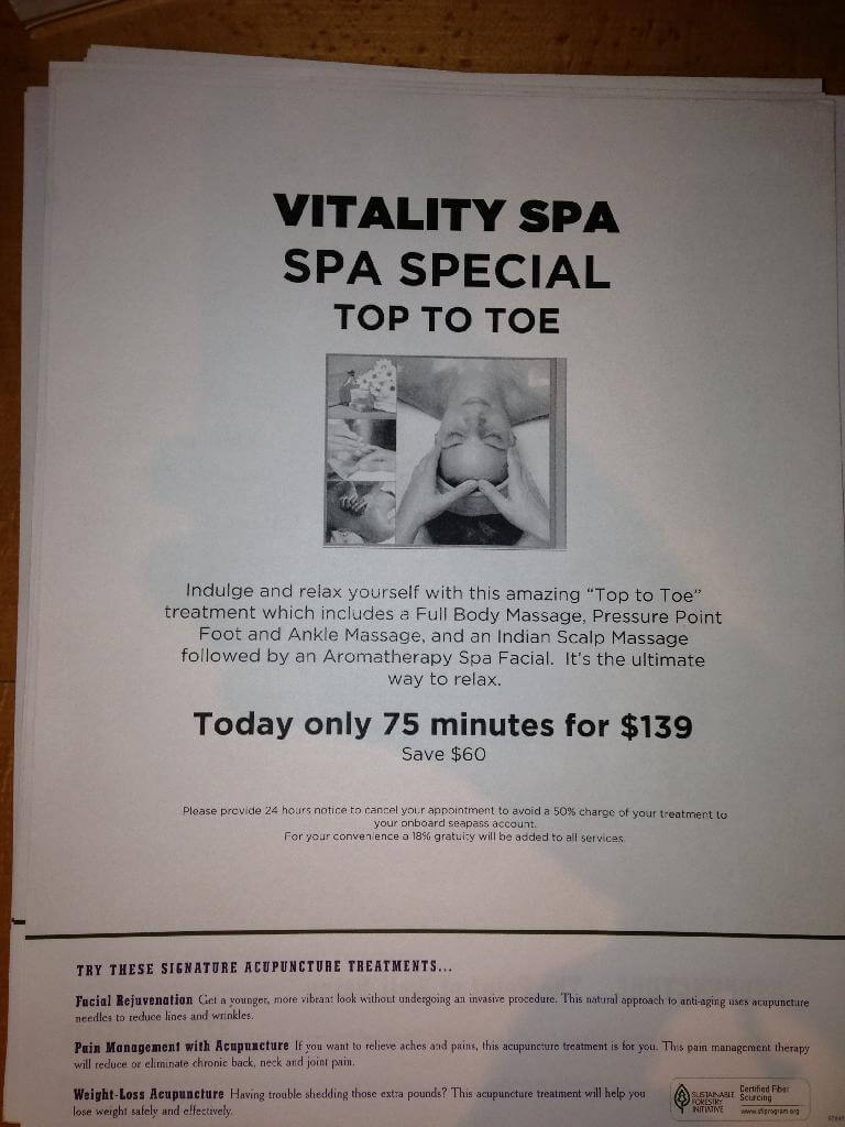Royal Caribbean Spa Prices