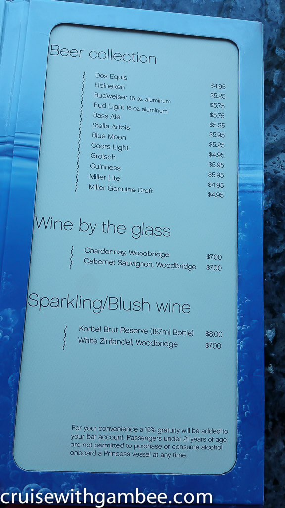 Msc Cruises Drink Lists With Prices Cruise With Gambee