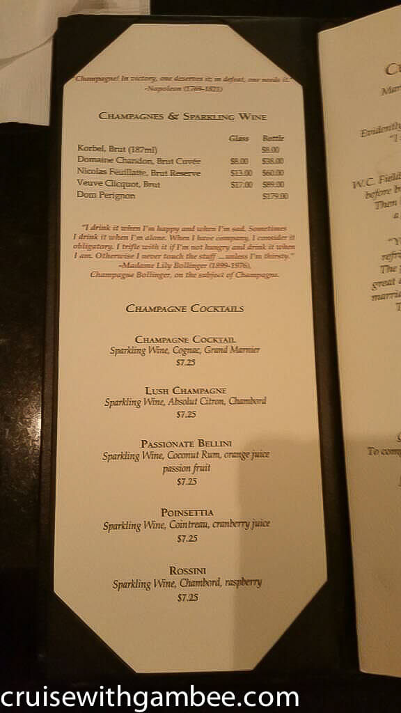 princess cruises drink price and menu-19