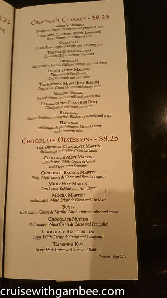princess cruises drink price and menu16