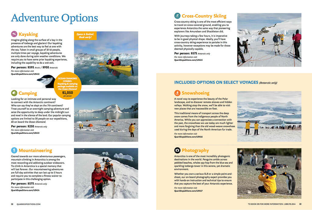 Antarctic shore excursions