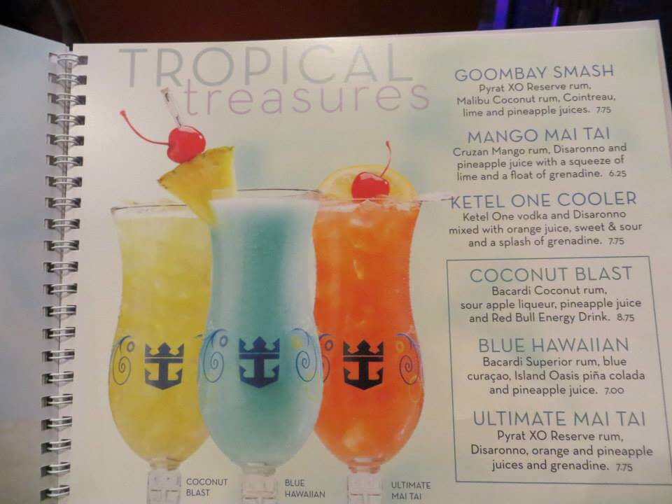 Royal Caribbean mix drinks prices