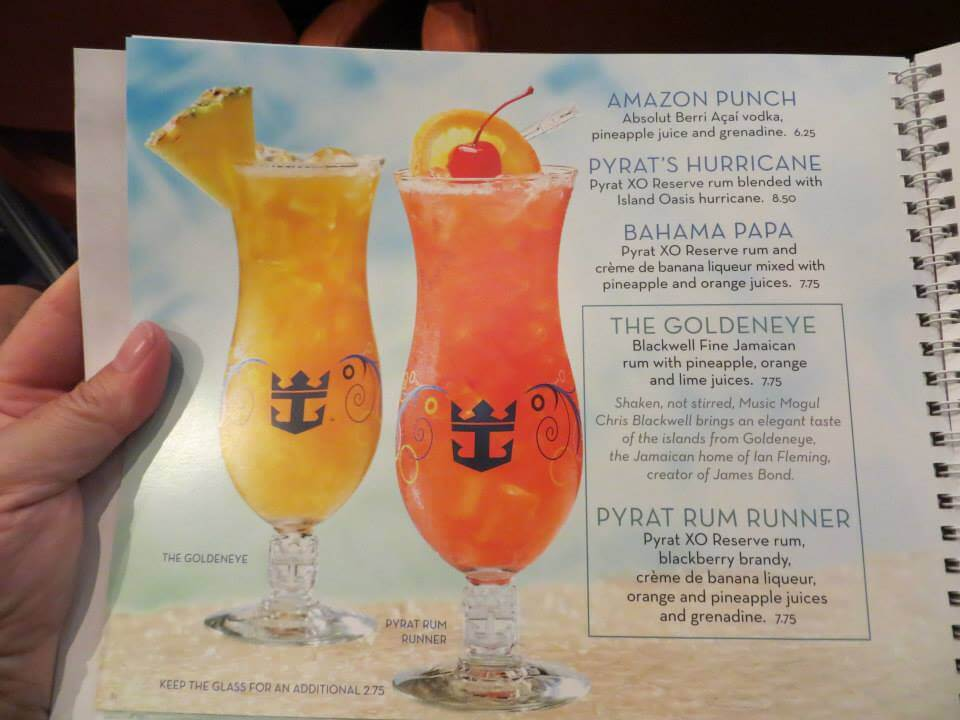 2014 Royal Caribbean Drink Prices  Cruise With Gambee