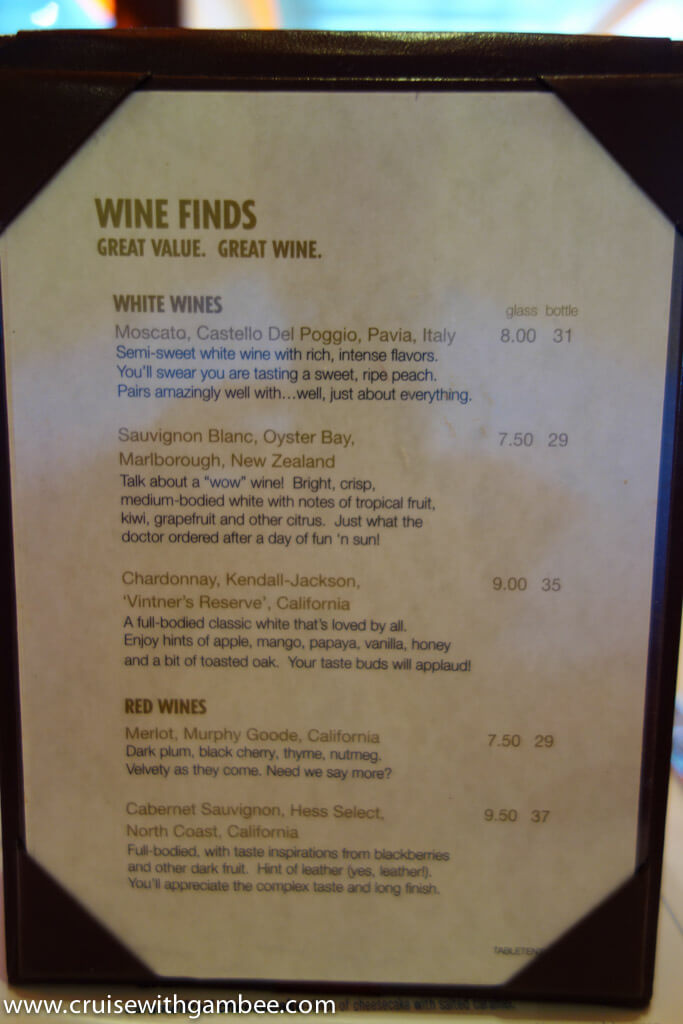Carnival Cruise Drink Prices