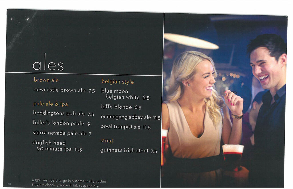 Celebrity Cruise Drinks