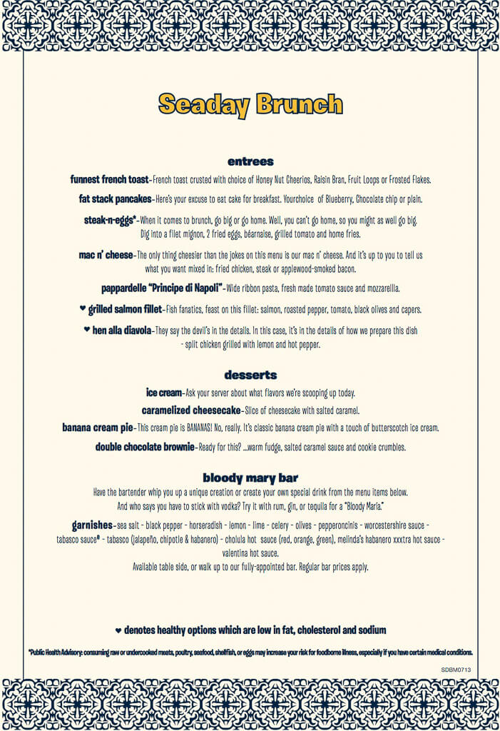 carnival brunch menu