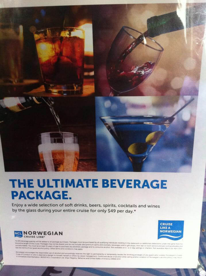 Norwegian (NCL) Ultimate Beverage Drink Package - NCL Drink Package