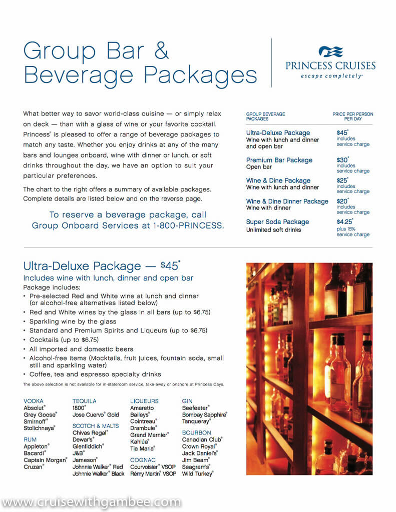 Princess Cruise Drink Packages