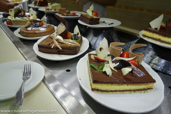 Carnival Breeze chocolate buffet