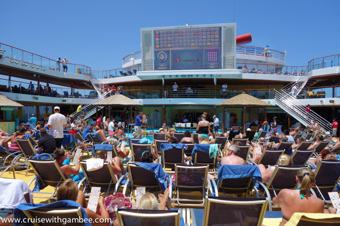 Carnival Breeze poolside bingo