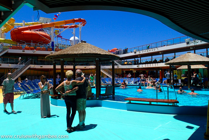 Carnival Breeze lido deck pool area
