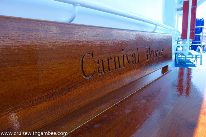 Carnival Breeze Bench