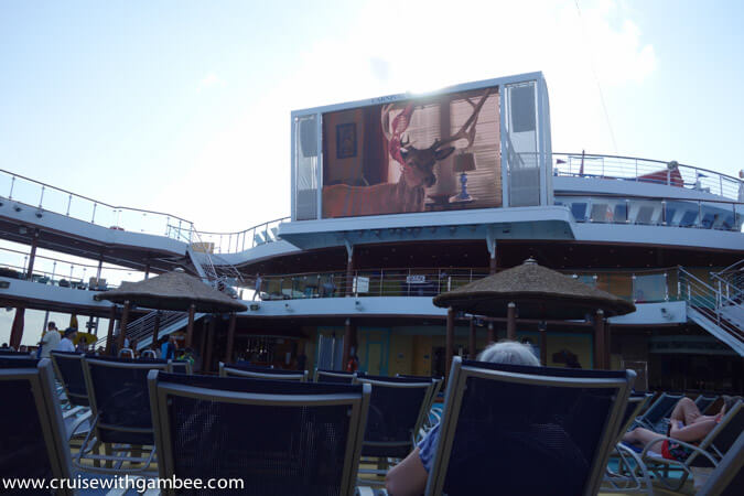 Carnival Breeze pool side theater