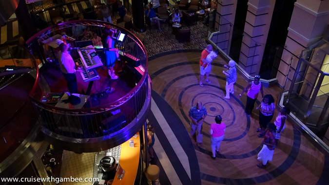 Carnival Breeze Atrium dancing