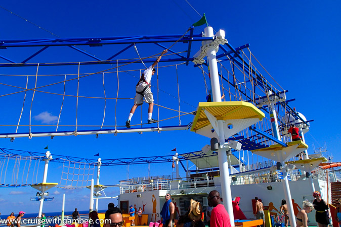 carnival breeze rope course