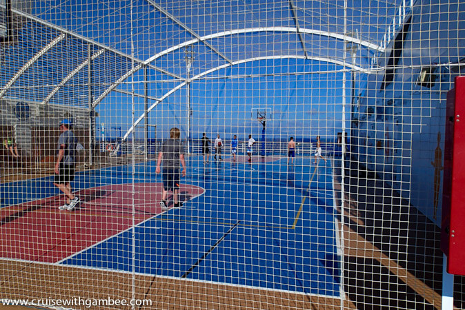 Carnival Breeze basketball court