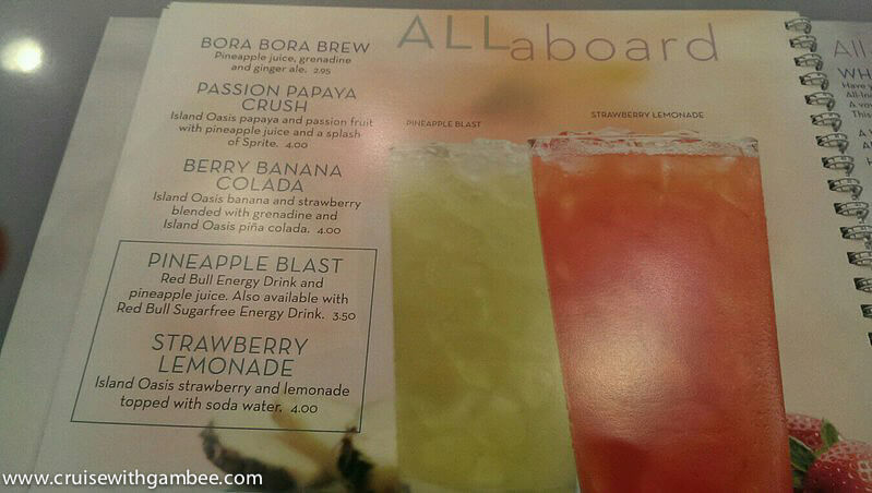 Miami On The Cheap >> Royal Caribbean 2014 Drink Lists – cruise with gambee