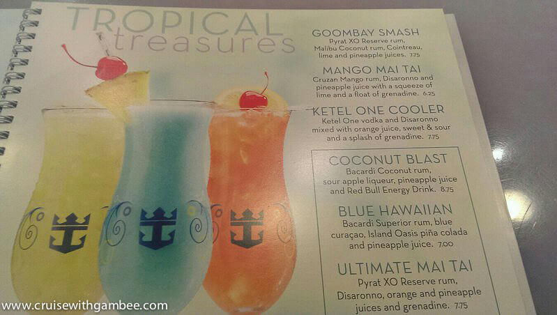 Royal Caribbean 2014 Drink Lists