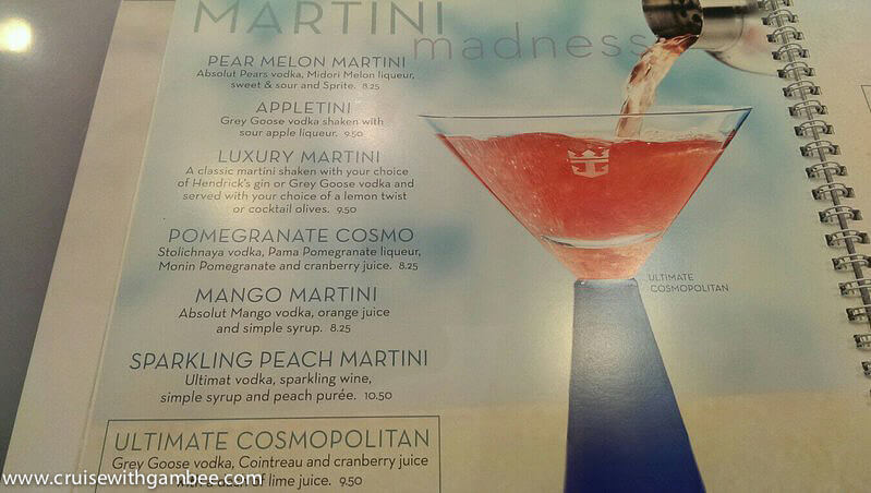 Royal Caribbean 2014 Drink Lists Cruise With Gambee