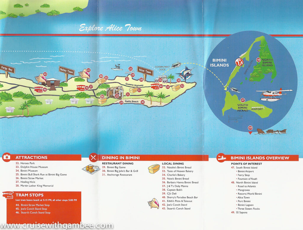 Bimini SuperFast Island Map