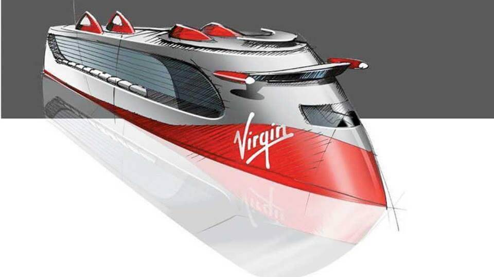 Modern Ship Design : Virgin cruise ship concept with gambee