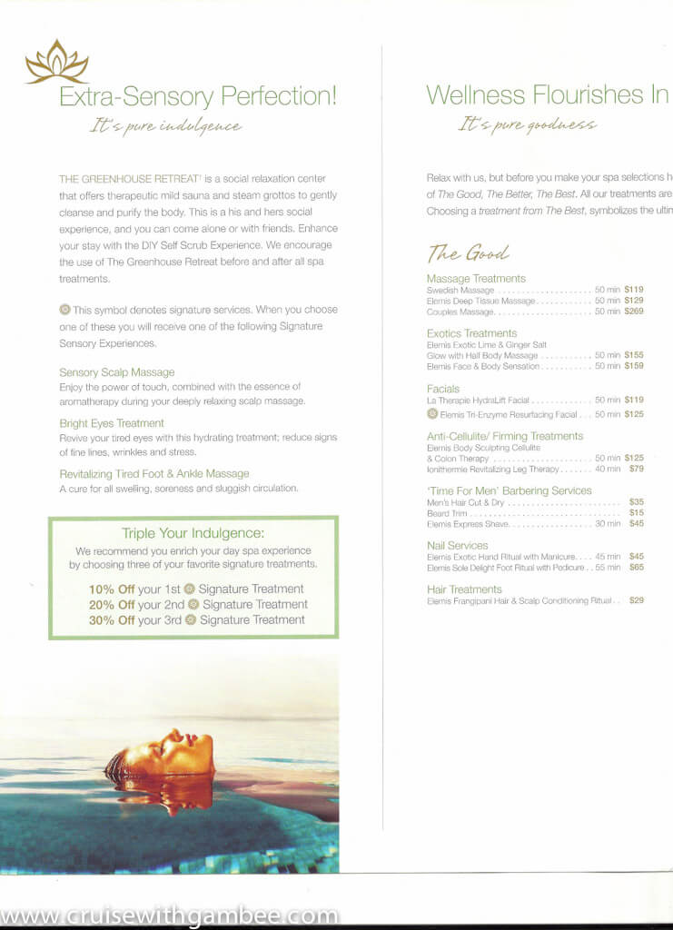 Holland America Spa products and prices-11