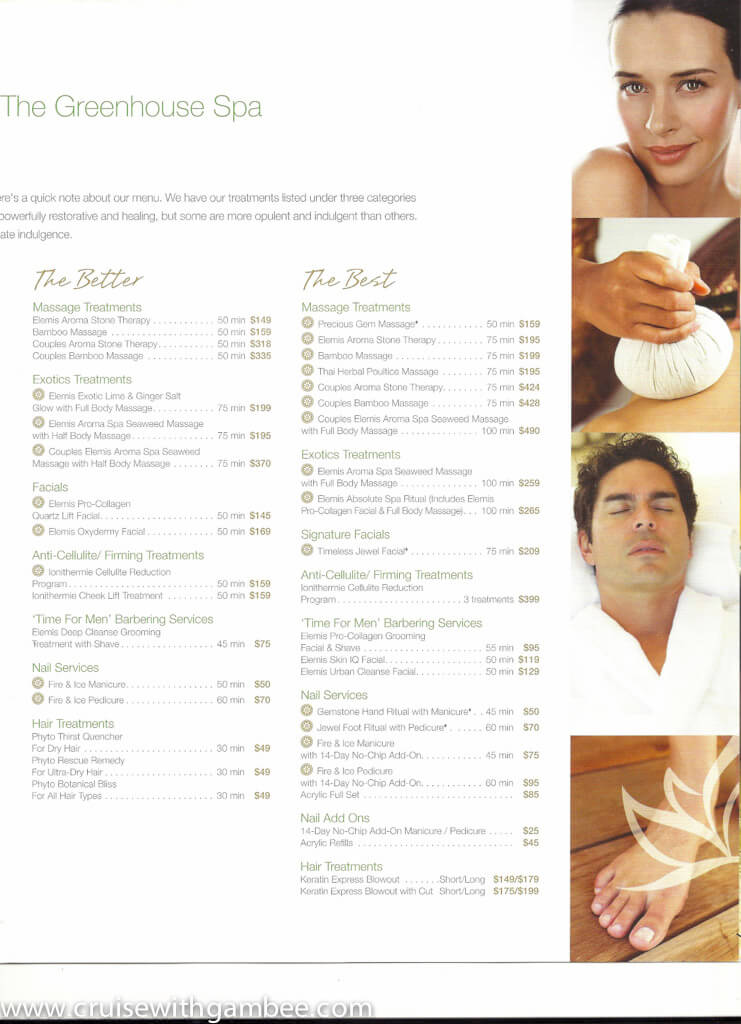 Holland America Spa products and prices-12