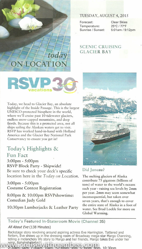 MS Westerdam RSVP Explorer Daily-9