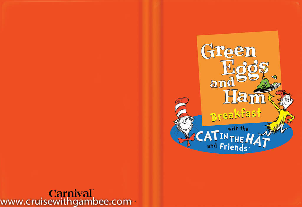 Carnival Cruise Green Eggs and Ham Breakfast Menu