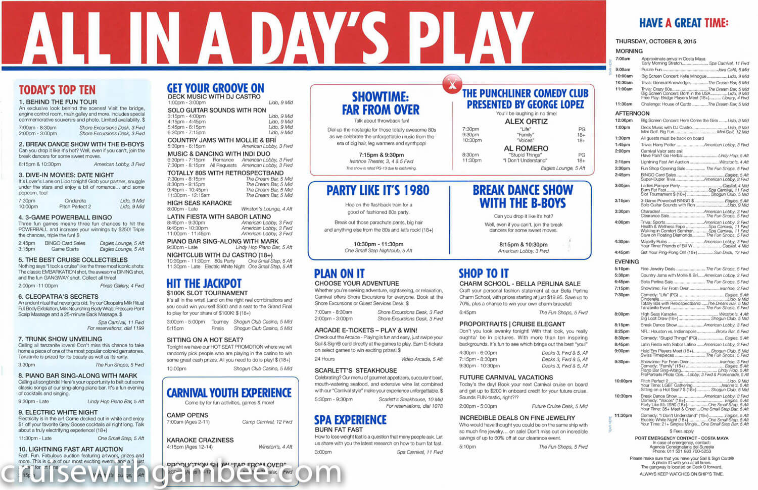 Carnival Valor Fun Times Daily paper-11